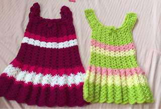 Knitted dress take 2 for 180 1-2 years old
