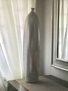 Silver tall Vase from Japan
