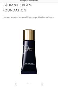 Cle de Peau Radiance cream foundation New in O10