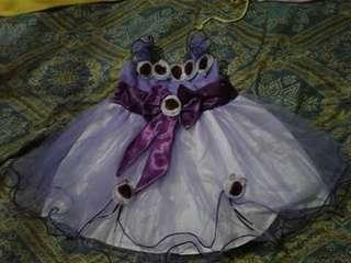 Preloved baby gown (violet)