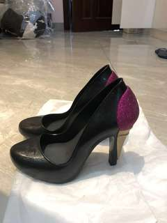 Limited edition authentic Melissa ice cream black heels