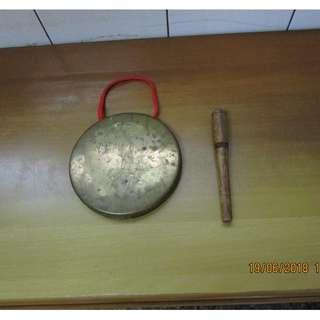 小銅鑼 + 木槌