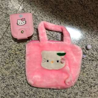 Hello Kitty Bag and Pouch