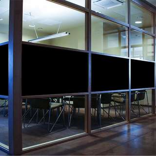 🚚 Black Out Privacy Film for Toilet Living Room Bed Room Office Kitchen Window Glass Panel DIY Wallpaper Wall Home Decor