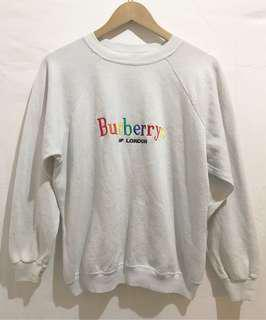 Vintage Bootleg Burberry sweatshirt in White