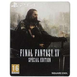 PS4 Final Fantasy XV Steelbook Edition