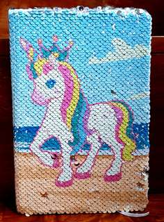 Unicorn Sequins Notebook