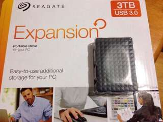 3 TB Seagate Expansion External Storage