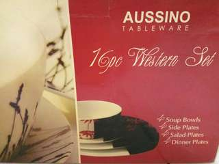 Aussino Tableware 16 pc Western set