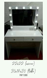 Vanity table/mirror
