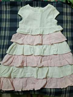 Room 8 Pink And White Layer Girl Dress Size 2T