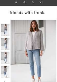 Friends with frank rabbit fur jacket -THE FRANK