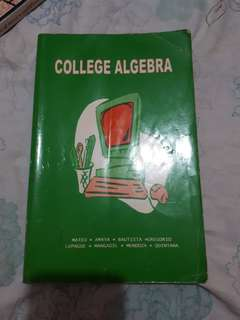 College algebra REPRICED SALE!