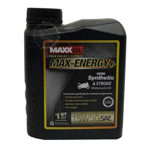 MAXXOIL MAX-ENERGY+ SEMI SYNTHETIC 15W50 4 STROKE MOTORCYCLE OIL 1LITRE