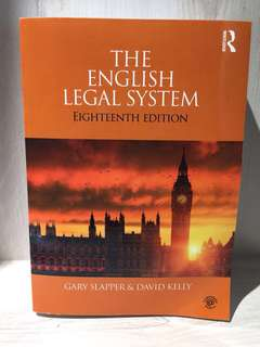 The English Legal System (Law books)