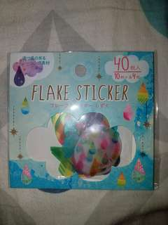 Weather Flake Stickers 40pcs 天氣貼紙40枚