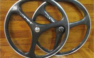 Spin Tri Spoke Carbon Fiber wheel sets