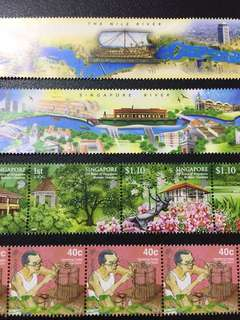 Mail Art Singapore stamps