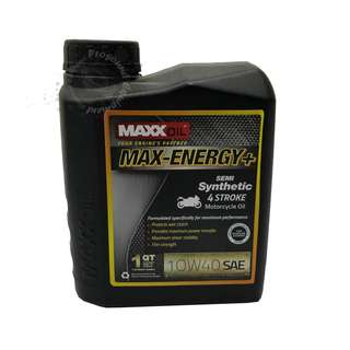 MAXXOIL MAX-ENERGY+ SEMI SYNTHETIC 10W40 4 STROKE MOTORCYCLE OIL 1LITRE