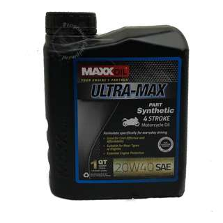 MAXXOIL ULTRA-MAX PART SYNTHETIC 20W40 4 STROKE MOTORCYCLE OIL (1 LITRE)