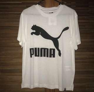 White and Black Puma Tee