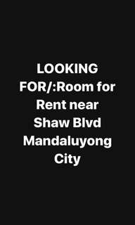 ROOM FOR RENT MANDALUYONG
