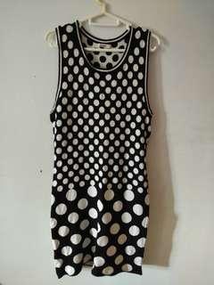 Polka dot knitted dress