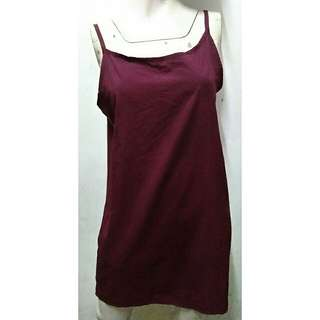 SALE preloved free size basic maroon cami slip dress