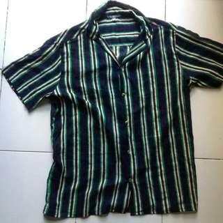 ILUSTRADOS Benedicto SS Cuban Collar Shirt Stripes