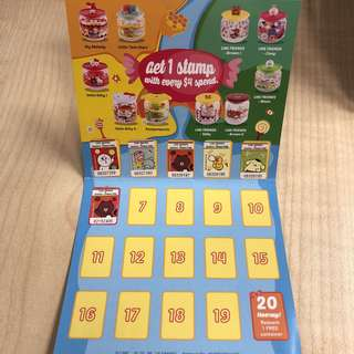 7-11 Sanrio Line Glass Container Stickers