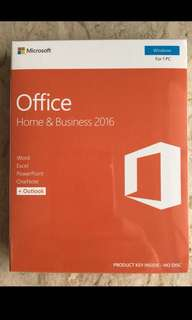 Microsoft Office Home & Business 2016 (PC version)