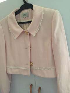 Korean Pink/White Blazer