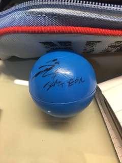 WTT JEONGYEON SIGNED BALL FROM TWICELAND FANTASY PARK