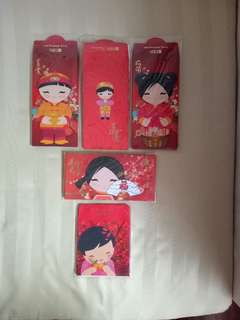 DBS /Treasures Red Packets (5 different full sets)