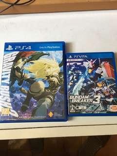 PS4 重力買想世界完結篇 (已售)psv Gundam breaker 3 日版