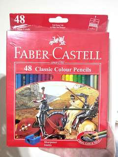 💰🎈#HariRaya35 GSS SALE!! 100% AUTHETNIC BRAND NEW!! FABER CASTELL 48 CLASSIC COLOUR PENCILS INCLUDE SHARPENER & CLASSIC GOLD & SILVER COLOUR PENCIL INSIDE TOO!! UNWRAPPED CONDITION!! SELLING AT A SUPER DEAL!! ONLY 1!! HURRY!! GRAB BEFORE ITS GONE!!