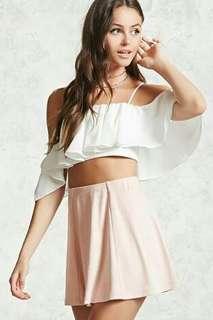 F21 Blush Skirt