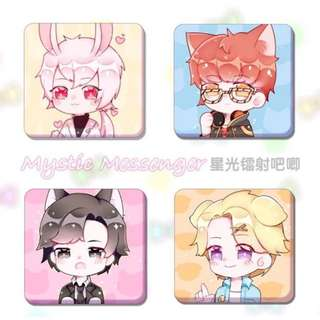 mystic messenger badges (all)