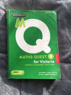 Jacaranda Maths Quest 9 (includes text book and homework book)