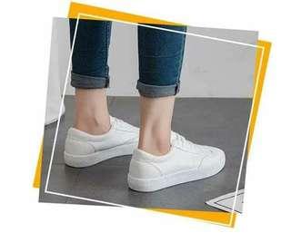 Plain white shoes