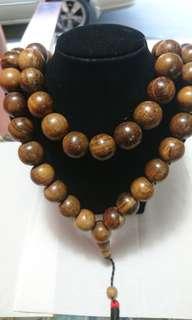 Gaharu wood necklace 16mm 99beads/tasbih
