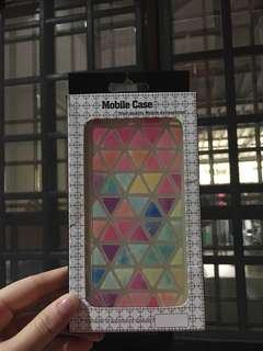iPhone 6 and iPhone 6S mobile case colourful triangle