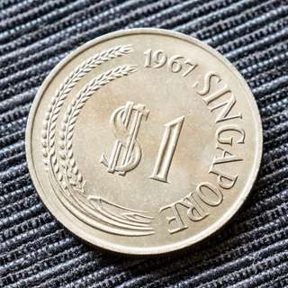 1967 Singapore Old Coins