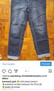 Levies denim overrun pants