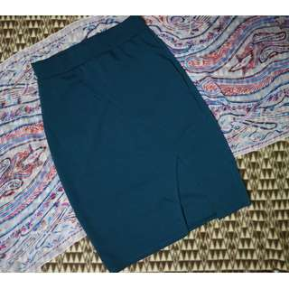 Free Size Blue Green Body Con Skirt