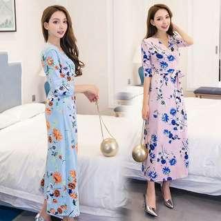 Floral Chiffon Maxi Dress