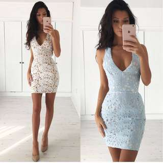 🚚 hot sale in Europe and America women's water soluble lace deep V collar back cross-slip sexy dress