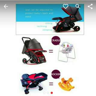 2 in 1 baby cradle stroller #KayaRaya