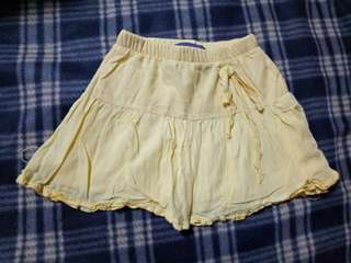 Girl Fairy Tales Yellow Skirt With Ribbon Size 2Y
