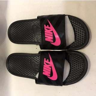 Nike Benassi GD 復古潮流 大LOGO SUPREME拖鞋 情侶鞋 運動拖鞋 戶外拖鞋 無鞋盒